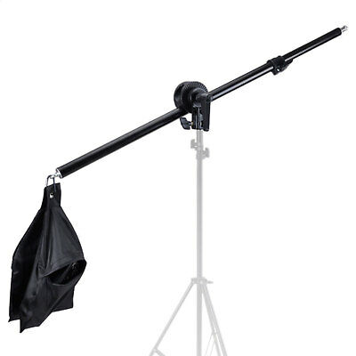 Photo Studio Overhead Boom Arm Light Stand Swivel Tripod Clamp for Softbox Light