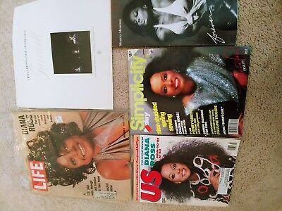 Diana Ross Magazines and Booklets, lot of 5