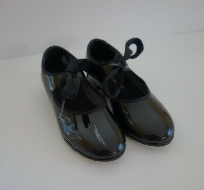 Capezio Girls Dance Tap Shoes Black Size 10.5 M