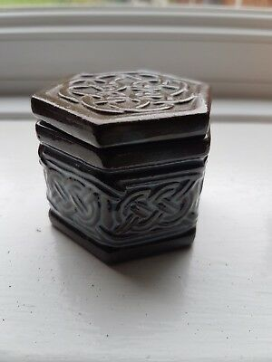Tyn Llan Welsh Pottery Celtic Ceramic Hexagonal Box