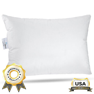 ComfyDown Travel Pillow -800 Fill Power European Goose Down Pillow - MADE IN USA