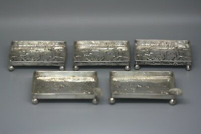 Vintage Sterling Silver 800 German Silver Cigar Cigeretts Ash Tray Butter Plates