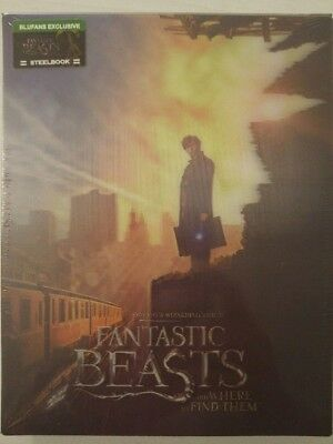 Blufans BE #39 Fantastic Beasts and Where To Find Them Steelbook Blu-Ray Double