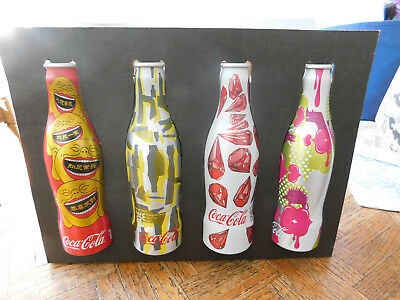 Coca Cola 2008 Eight Can Set With Case & Box CHINA Beijing Olympics Artists WE8