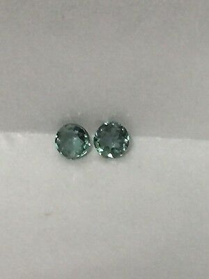 Genuine Natural Alexandrite Color Change Round 2.25 MM Pair  .12 Cttw.