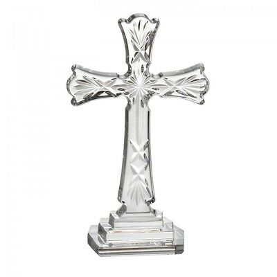 """Waterford Crystal Spirituality 8"""" Standing Holy Cross Sculpture *New in Box*"""