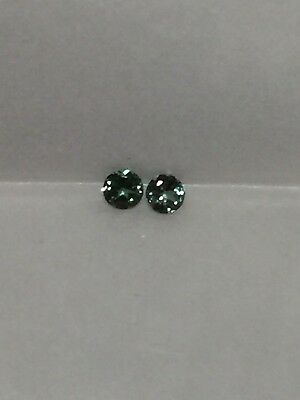 Genuine Natural Alexandrite Color Change Round 2.22 MM Pair  .14 Cttw.