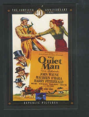 THE QUIET MAN Movie Promo Postcard John Wayne and Maureen OHara A17