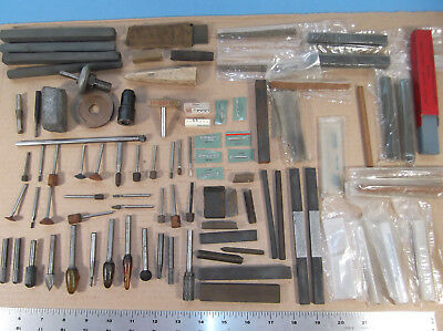 Mixed Lot tool & Die Machinist Tools Stones Burrs Laps Arbors - Old and New