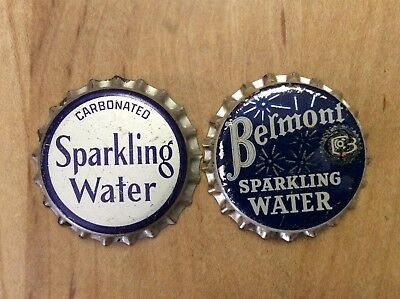 2 Different    Sparkling Water    Soda  Bottle Caps -  Unused - Cork  Lined