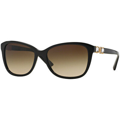 2d4554429dd Versace VE4293B GB1 13 Sunglasses Eyewear Black Frame Brown Gradient Lens