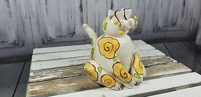 "annaco Creations LaCombe 7.5"" tall Cat Kitten 2001 love struck glasses signed"