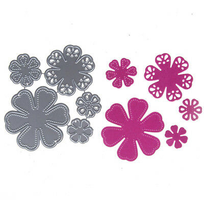 Lovely Bloosom Flowers Cutting Dies Scrapbooking Photo Decor Embossing  Making `