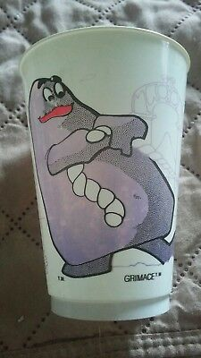 Grimace McDonald's cup from 1980 hard plastic