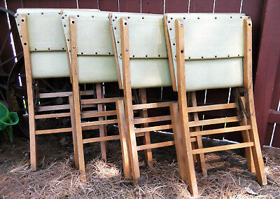 Vintage Solid Wooden Louis Rastetter & Sons Solid Kumfort Folding Chairs 492