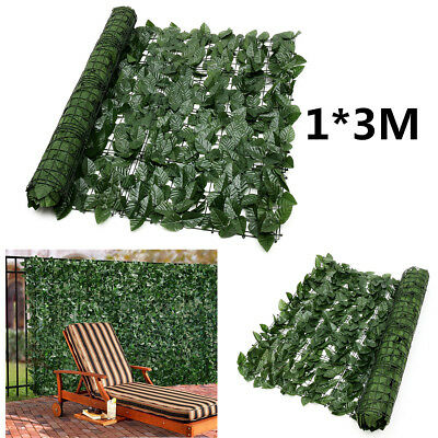Expanding 1*3M Artificial Fake Lvy Leaf Wall Fence Green Garden Screen Hedge