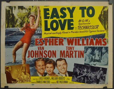"""Easy To Love 1953 Orig 22X28 """"a"""" Movie Poster Esther Williams Van Johnson"""