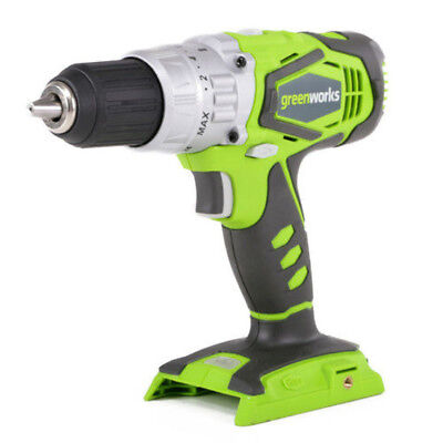 Greenworks Cordless Hammer Drill 24 Volt Lithium-Ion 2-Speed 1/2 in. (Bare Tool)