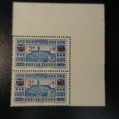 France Colony Syria N°242 Pair With Variety Of Overload Neuf Luxe Mnh