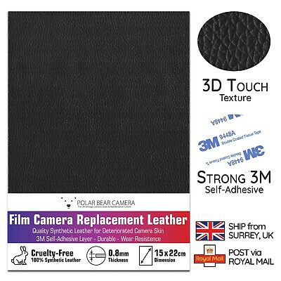 Camera Body Recovering PU Leather Self-Adhesive Sheet [BLACK] Repair DIY