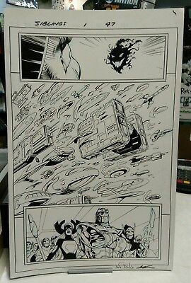 Marvel THANOS INFINITY SIBLINGS 1 page 47 Alan Davis Original Art jim starlin