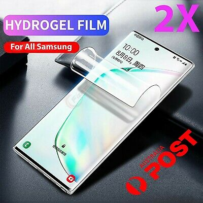 2x Hydrogel Screen Protector samsung Galaxy s10 S9 S8 Plus Note 9 8 10 s7 s2 s33