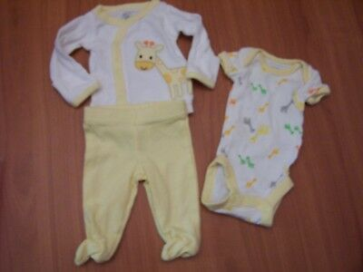 Preemie Just One You by Carters Baby Girl Short Sleeve Bodysuits 1-piece EUC set