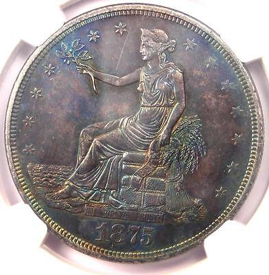 1875-P Trade Silver Dollar T$1 - NGC Uncirculated Detail (UNC MS) - Rare 1875!