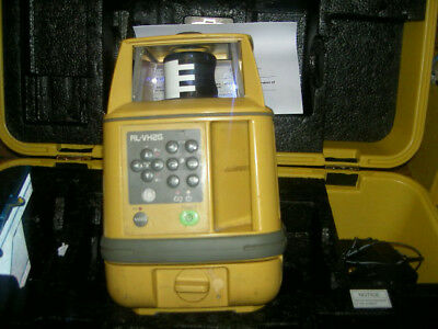 topcon rl-vh2g rotating laser green beam calibrated till 2019