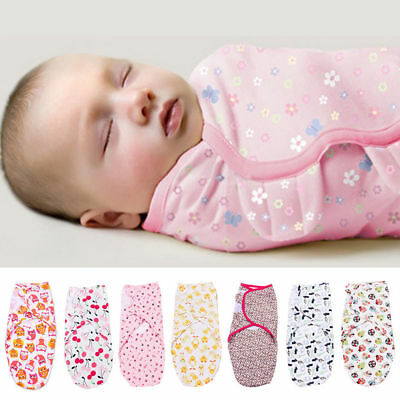 100% Cotton Soft Baby Infant Kids Swaddle Stroller Wrap Blankets Sleeping Bags
