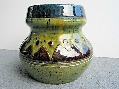 Art Deco Belgium earthenware pottery vase