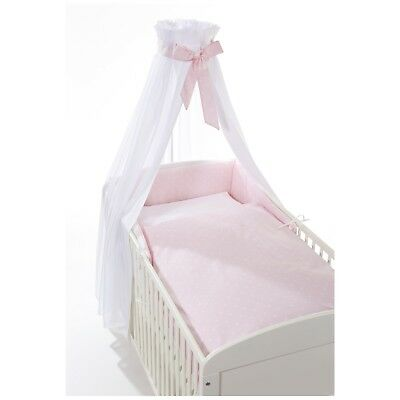 Easy-Baby Bettset / Himmelset 4-teilig für Kinderbett stars rose TOP