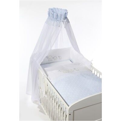 Easy-Baby Komplettset / Bettset / Himmelset 4-teilig Elefant blue TOP