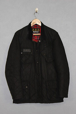Mens Barbour International Quilted Waxed Jacket Black Sя M MWX0103BK91