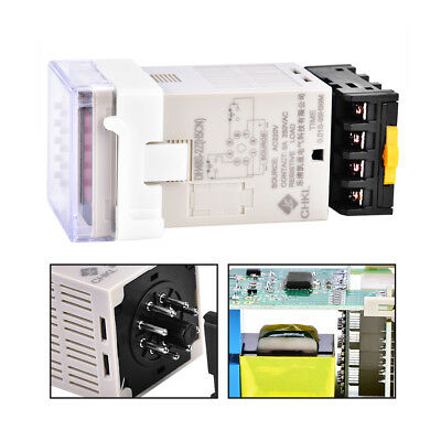 DH48S-2Z Digital Double Time Delay Relay with Socket Base 220V 0.01S-99H99M wt