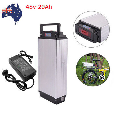 48V 20Ah Rear Rack Carrier Lithium Battery Pack fr 1000W E-bike Electric Bicycle