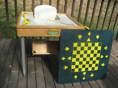 Antique Tiny Tot Safety Play Table Child's High Chair Type Furniture, Great Cond