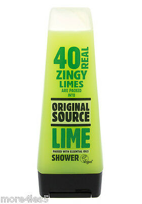 Original Source LIME Shower Gel 250ml Body Wash Natural Fragrance New