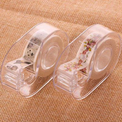 1x 1.5cm Cutter Washi Desktop Paper Tape Dispenser Roll Holder Storage Useful