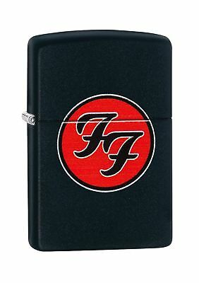 Zippo Unisex Foo Fighters Logo Regular Windproof Pocket Lighter, Black Matte,...
