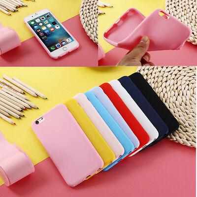 Thin Pastel Candy Soft Silicone Case Cover Skin For iPhone 5 5s 6 6s 7 8/ Plus X
