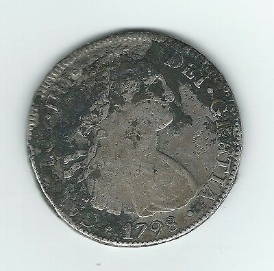 IMAGINE! A Real Spanish 1798 Silver Piece of Eight Reales-A Real Find & Bargain