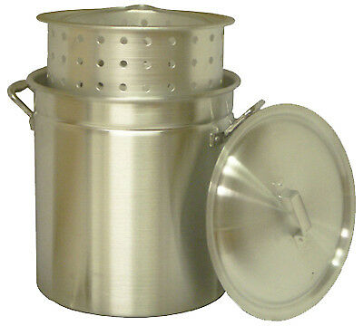 Steamer Pot with Basket, Aluminum, 60-Qt.