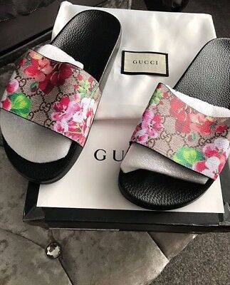 New 100% Autentic Gucci GG Blooms Floral Slides UK Size 7