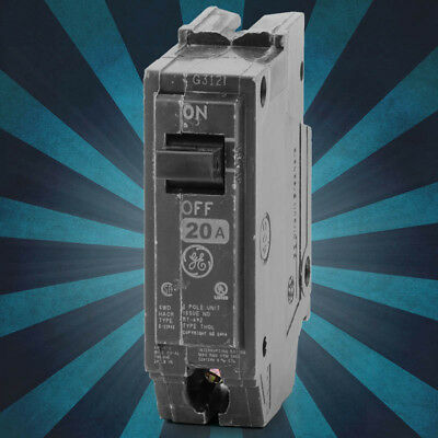THQL1120-General Electric Plug-In Circuit Breaker 1POLE 20AMP 120VOLT THQL 1OHM
