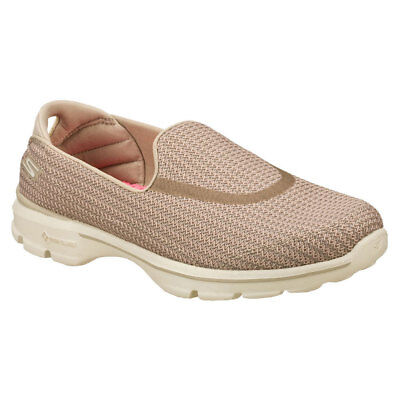 Skechers Go Walk 3 Fitknit Stone Shoes