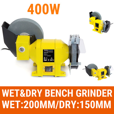 "8"" 6"" Wet & Dry Bench Grinder 400W 200mm Knife Sharpener Power Tool Industries"