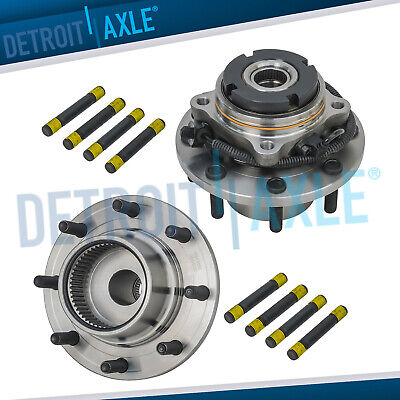 2 Front Wheel Hub and Bearing Assembly for Ford F-350 F-550 Super Duty DRW