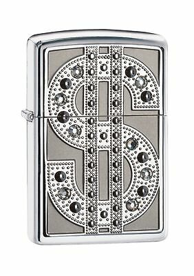 Zippo Bling Emblem Lighter - High Polished Chrome