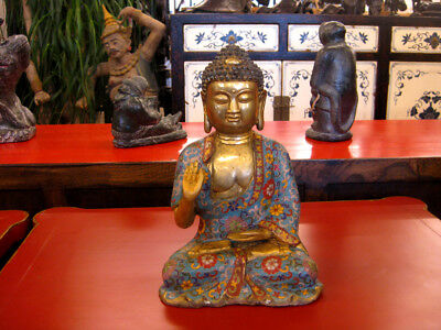 Cloisonne Buddha aus Bronze, China